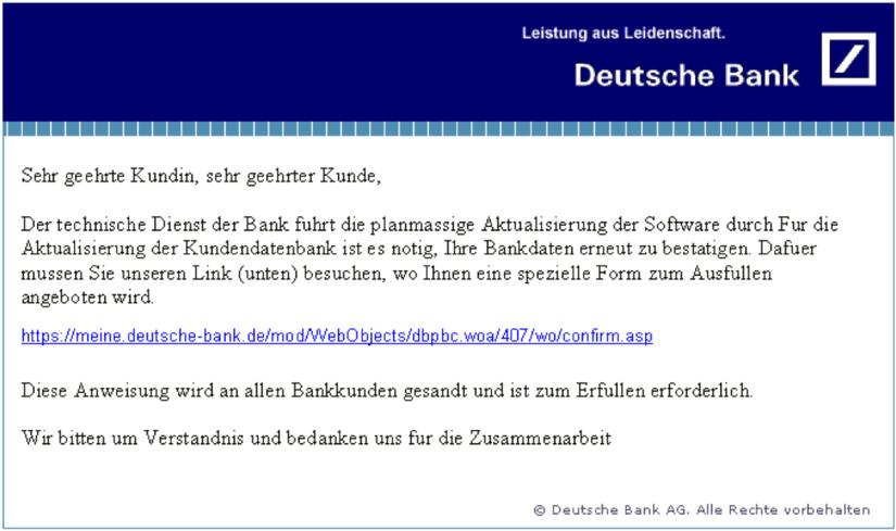 Newsletter Qualitätstest Phishing Links Und Ungültige Links