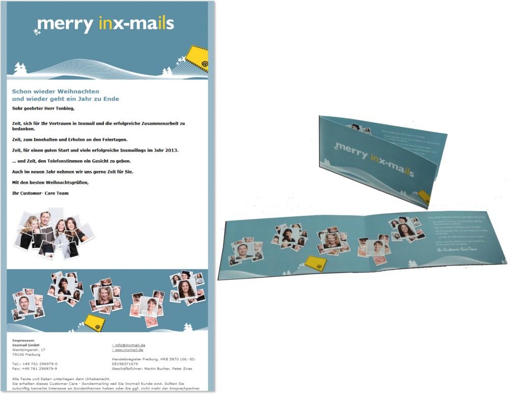 Weihnachtskampagnen ideen und tipps - Weihnachtskarte per mail ...